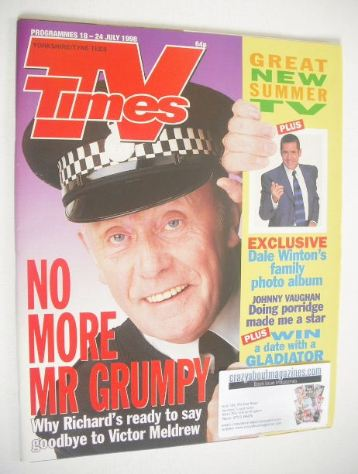 <!--1998-07-18-->TV Times magazine - Richard Wilson cover (18-24 July 1998)