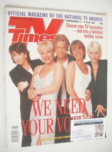 <!--1998-07-11-->TV Times magazine - We Need Your Votes cover (11-17 July 1
