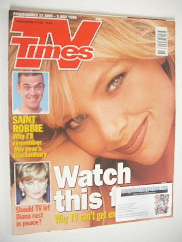 <!--1998-06-27-->TV Times magazine - Samantha Janus cover (27 June - 3 July
