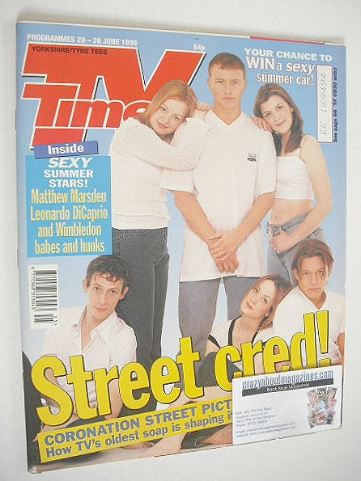 <!--1998-06-20-->TV Times magazine - Street Cred cover (20-26 June 1998)