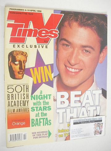 <!--1998-04-04-->TV Times magazine - Paul Nicholls cover (4-10 April 1998)