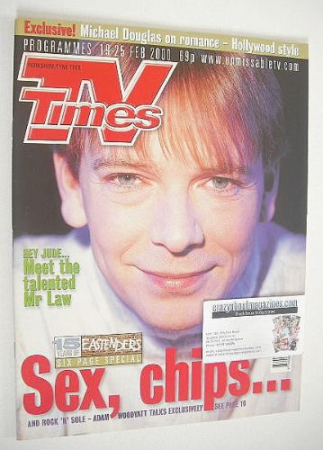 <!--2000-02-19-->TV Times magazine - Adam Woodyatt cover (19-25 February 20