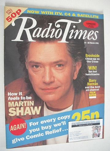 <!--1991-03-16-->Radio Times magazine - Martin Shaw cover (16-22 March 1991