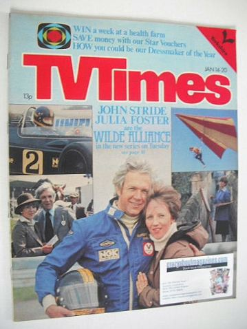 <!--1978-01-14-->TV Times magazine - John Stride and Julia Foster cover (14