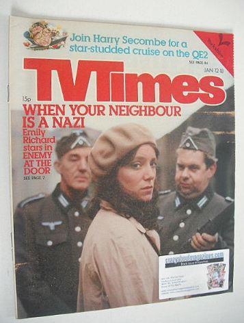 <!--1980-01-12-->TV Times magazine - Emily Richard cover (12-18 January 198