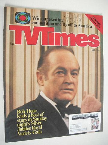 <!--1977-12-03-->TV Times magazine - Bob Hope cover (3-9 December 1977)