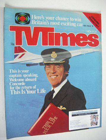<!--1977-11-19-->TV Times magazine - Eamonn Andrews cover (19-25 November 1