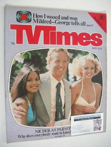 <!--1977-11-12-->TV Times magazine - Nicholas Parsons cover (12-18 November