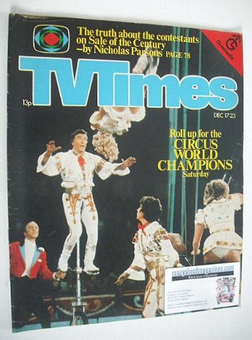<!--1977-12-17-->TV Times magazine - Circus cover (17-23 December 1977)