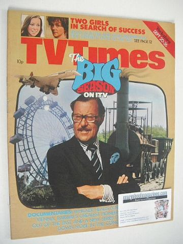 <!--1977-09-20-->TV Times magazine - Alan Whicker cover (20-26 September 19
