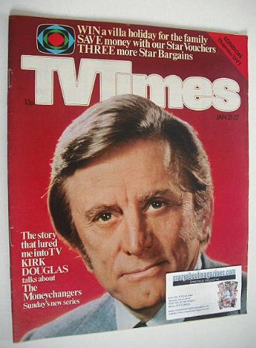 <!--1978-01-21-->TV Times magazine - Kirk Douglas cover (21-27 January 1978
