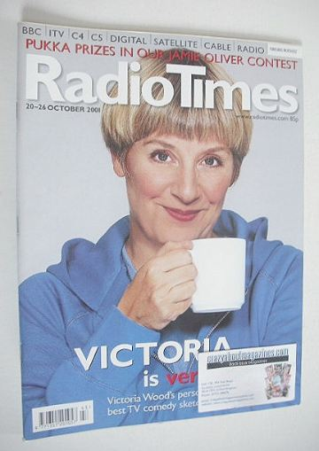 <!--2001-10-20-->Radio Times magazine - Victoria Wood cover (20-26 October