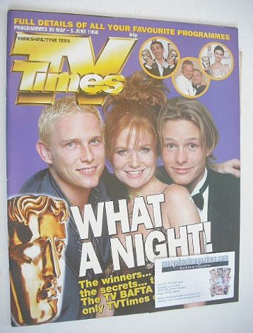 <!--1998-05-30-->TV Times magazine - TV BAFTA cover (30 May - 5 June 1998)
