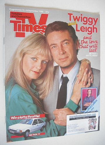 <!--1988-09-10-->TV Times magazine - Twiggy and Leigh Lawson cover (10-16 S