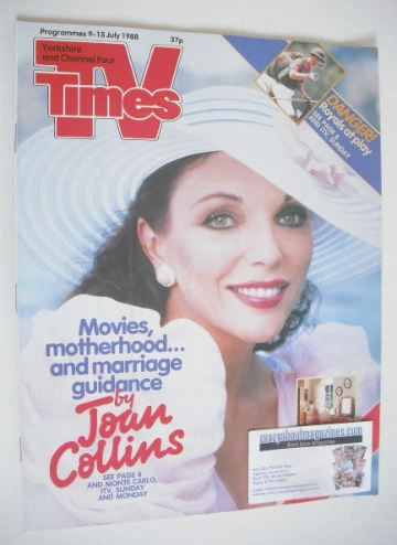 <!--1988-07-09-->TV Times magazine - Joan Collins cover (9-15 July 1988)
