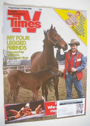 <!--1988-05-07-->TV Times magazine - Frazer Hines cover (7-13 May 1988)