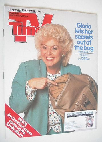 <!--1986-07-12-->TV Times magazine - Gloria Hunniford cover (12-18 July 198