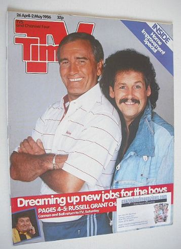 <!--1986-04-26-->TV Times magazine - Cannon and Ball cover (26 April - 2 Ma
