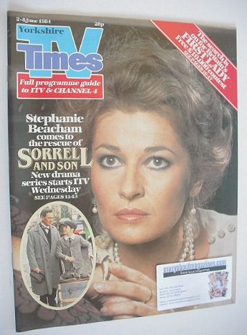 <!--1984-06-02-->TV Times magazine - Stephanie Beacham cover (2-8 June 1984