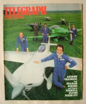 The Sunday Telegraph magazine - Formula Flying Takes Off cover (19 August 1979)