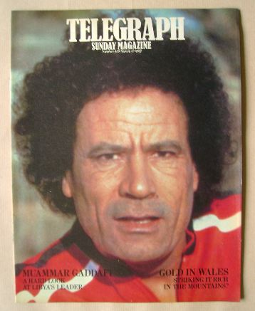 <!--1985-03-17-->The Sunday Telegraph magazine - Muammar Gaddafi cover (17