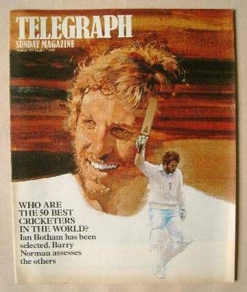 <!--1983-08-07-->The Sunday Telegraph magazine - Ian Botham cover (7 August