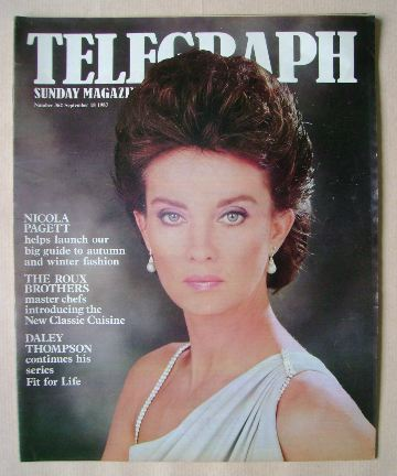 <!--1983-09-18-->The Sunday Telegraph magazine - Nicola Pagett cover (18 Se