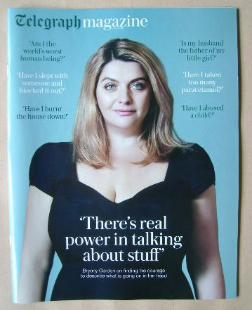 <!--2016-06-04-->Telegraph magazine - Bryony Gordon cover (4 June 2016)