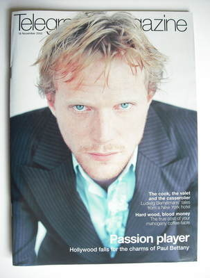 <!--2002-11-16-->Telegraph magazine - Paul Bettany cover (16 November 2002)