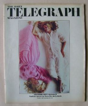 The Daily Telegraph magazine - Growing Into Elegance cover (21 September 1973)
