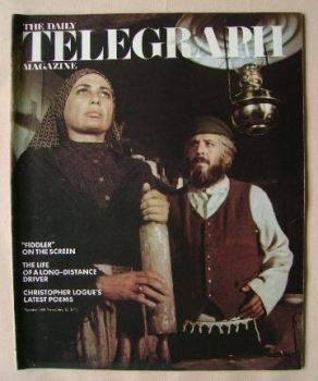 The Daily Telegraph magazine - Fiddler On The Roof cover (12 November 1971)