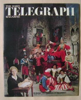 The Daily Telegraph magazine - Opera cover (26 November 1971)