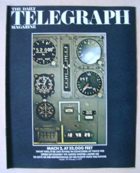 The Daily Telegraph magazine - Flight Into The Future cover (4 February 1972)