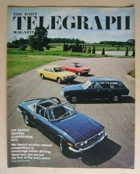 The Daily Telegraph magazine - Motor Car cover (28 July 1972)