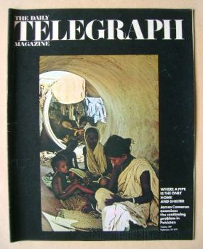 The Daily Telegraph magazine - Home And Shelter cover (10 September 1971)