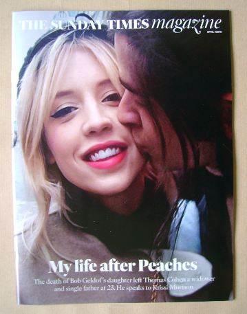 <!--2016-04-03-->The Sunday Times magazine - Peaches Geldof and Thomas Cohe