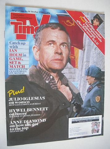 <!--1988-10-08-->TV Times magazine - Ian Holm cover (8-14 October 1988)