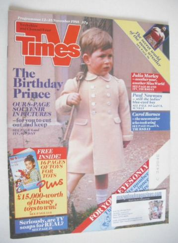 <!--1988-11-12-->TV Times magazine - Prince Charles cover (12-18 November 1