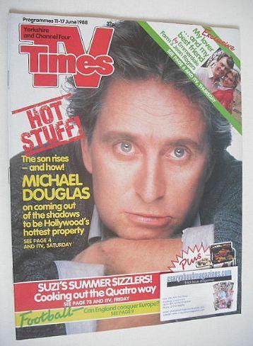 <!--1988-06-11-->TV Times magazine - Michael Douglas cover (11-17 June 1988