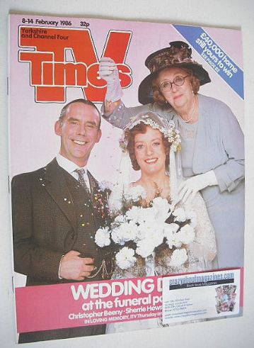 <!--1986-02-08-->TV Times magazine - In Loving Memory cover (8-14 February