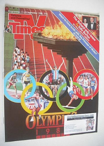 <!--1988-09-17-->TV Times magazine - Olympics cover (17-23 September 1988)
