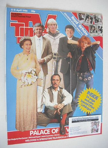 <!--1986-04-05-->TV Times magazine - Palace of Variety cover (5-11 April 19