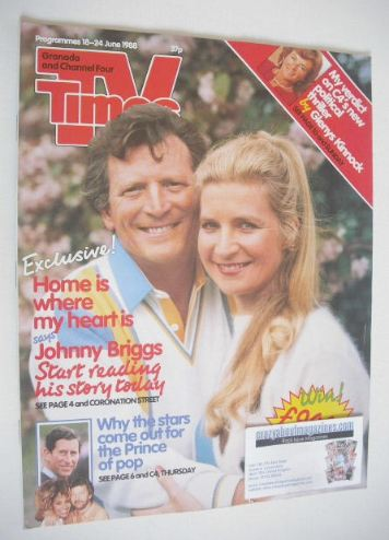 <!--1988-06-18-->TV Times magazine - Johnny Briggs cover (18-24 June 1988)