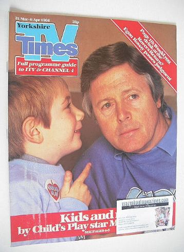 <!--1984-03-31-->TV Times magazine - Michael Aspel cover (31 March - 6 Apri