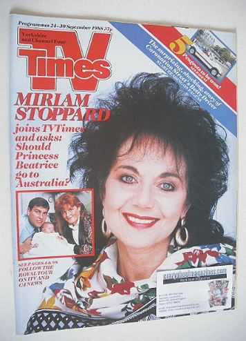 <!--1988-09-24-->TV Times magazine - Miriam Stoppard cover (24-30 September
