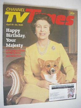 CTV Times magazine - 19-25 April 1986 - Queen Elizabeth II cover