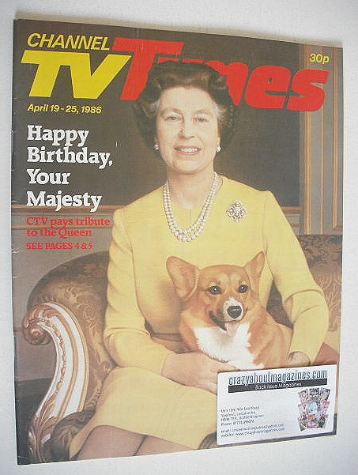 <!--1986-04-19-->CTV Times magazine - 19-25 April 1986 - Queen Elizabeth II