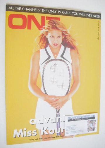 <!--2001-06-23-->ON7 magazine - 23-29 June 2001 - Anna Kournikova cover