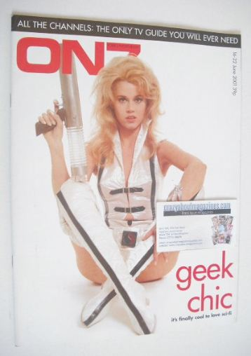 <!--2001-06-16-->ON7 magazine - 16-22 June 2001 - Jane Fonda cover