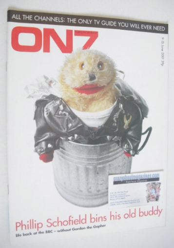 <!--2001-06-09-->ON7 magazine - 9-15 June 2001 - Gordon the Gopher cover